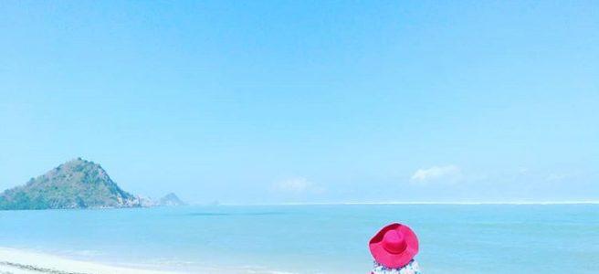 Pantai Kuta Mandalika Lombok Tengah, sumber ig @elva_hd20