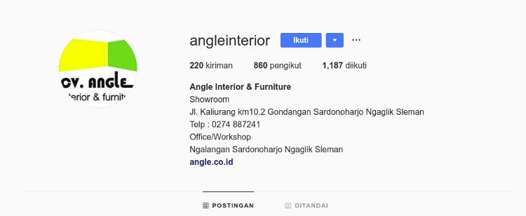 Instagram CV Angle Interior